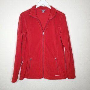 Eddie Bauer Red Fleece Jacket